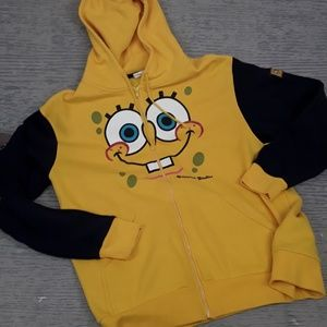 Universal Studio SpongeBob zip hooded sweatshirt